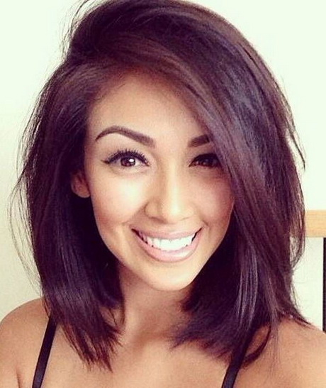 Pin Medium Layered Haircut For Thick Hair Round Faces Hairstyle Ideas ...