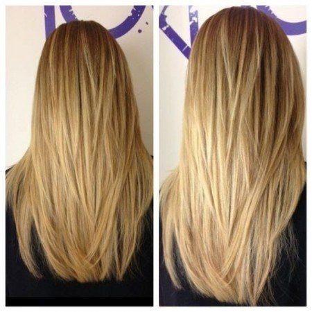 Стрижки на длинные волосы 2017 женские вид спереди и сзади