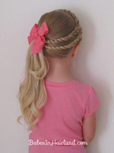 Прическа бантик для девочек с длинными волосами
