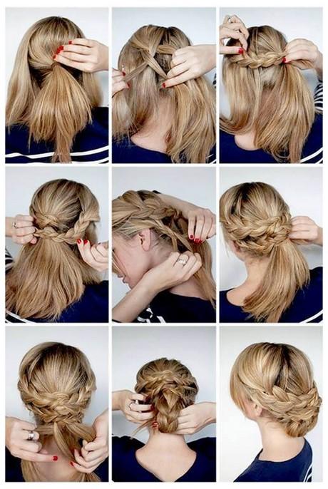 Прически на волосы средней длины в домашних условиях своими руками 3