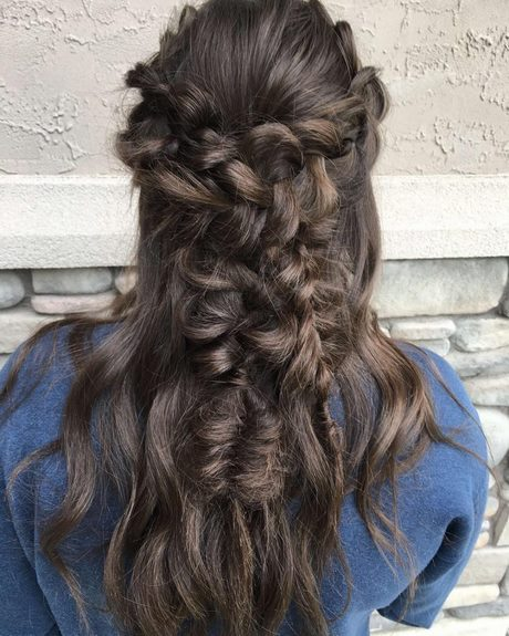 Brown hair prom hairstyles