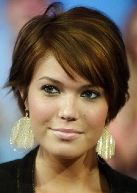 Round Face Short Hair With Bangs