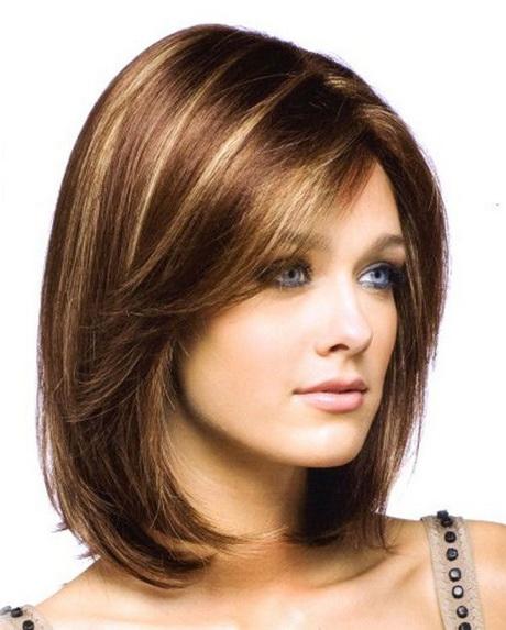 Виды причесок на средние волосы с челкой