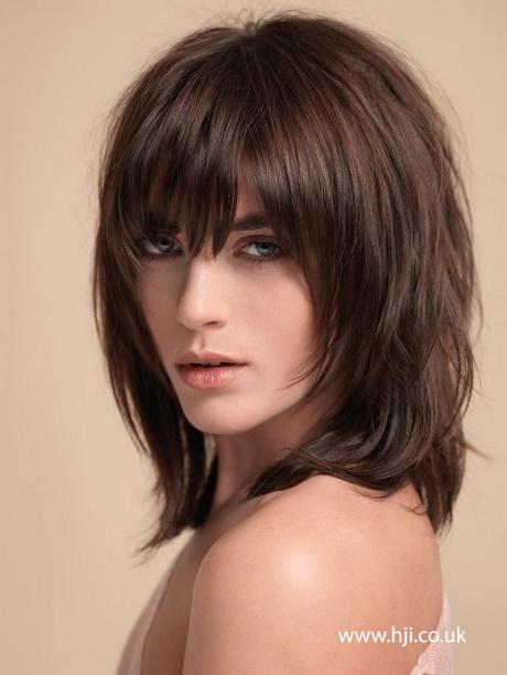Bangs And Medium Length Hair