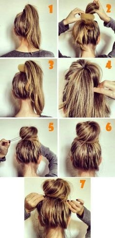 easy casual updo hairstyles for long hair