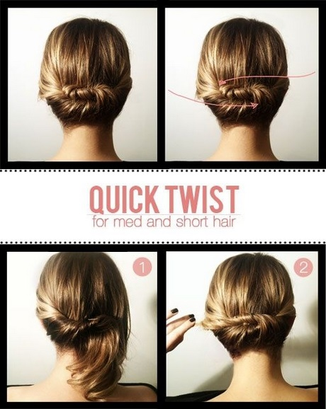 Easy Casual Updos For Medium Hair