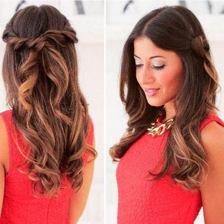 Everyday hairstyles for long curly hair