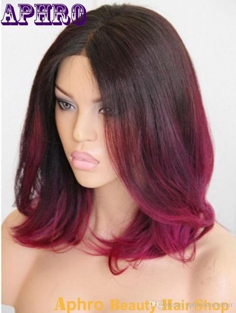 Red Shoulder Length Hair