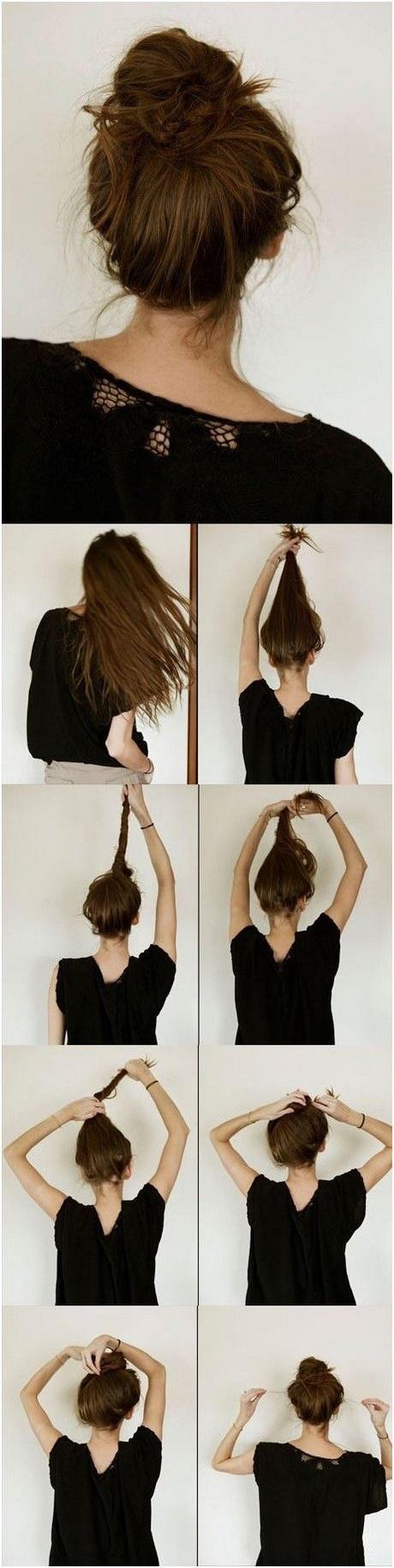 Как сделать пучок когда густые волосы