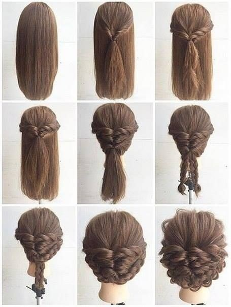 10 Quick Easy Everyday Hairstyles in 5 minutes – YouTube. Fashionable Braid Hairstyle for Shoulder Length ...