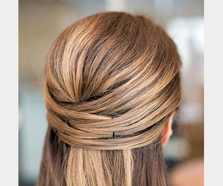 Women Hairstyle Simple Hairstyles For Straight Hair Perfect Everyday Wear Easy At Home Medium Thick