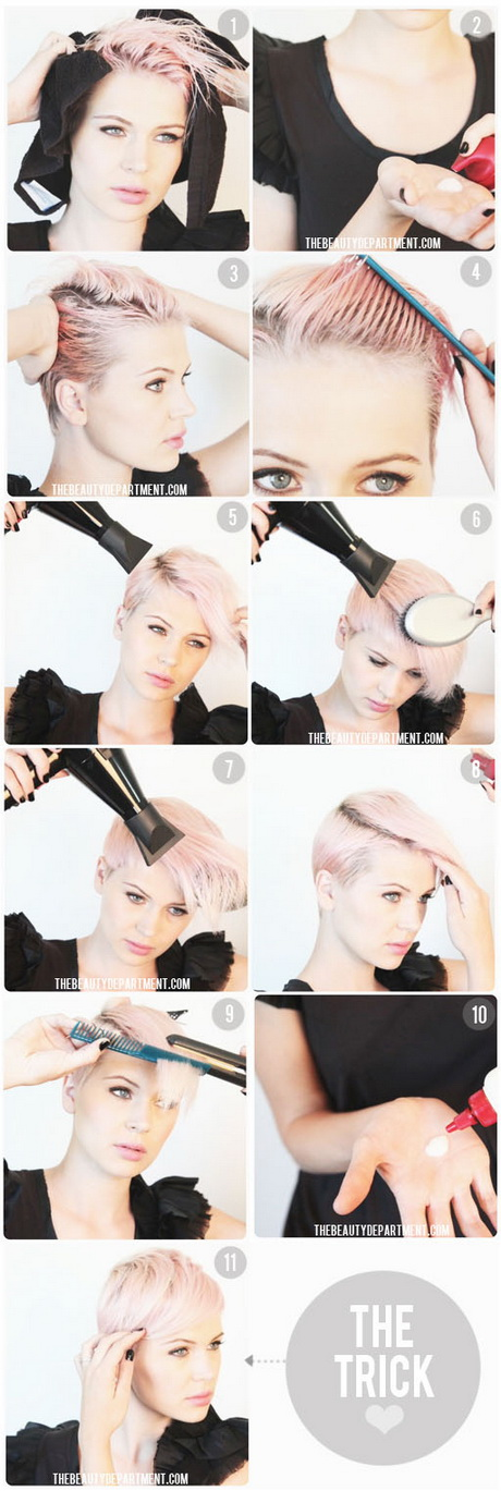 ways to style a pixie haircut. Black Bedroom Furniture Sets. Home Design Ideas