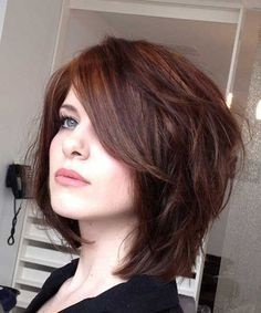 2018 Short Haircuts For Round Faces