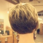 Back views of short haircuts