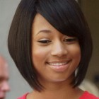 Black hairstyles for round faces