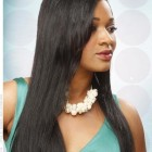 Black straight hairstyles