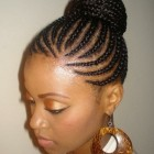 Braided updo hairstyles for black women