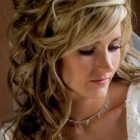 Curly bridesmaid hair
