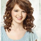 Curly hair medium length styles