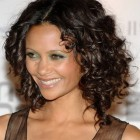 Curly mid length hairstyles