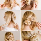 Easy bun hairstyles for long hair