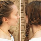 French braid to the side