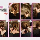 Hairstyles for long hair at home