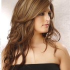 Layered hairstyle for long hair