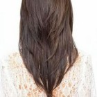 Layered v haircut