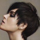 Long hair pixie haircut
