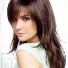Long layered haircuts with bangs