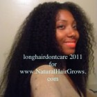 Long natural hair styles