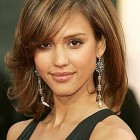 Medium length hairstyles with bangs and layers