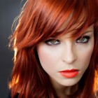 Medium red hairstyles