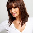 Mid length hairstyles with bangs