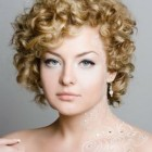 Modern short curly hairstyles