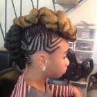 Mohawk hairstyles with braids