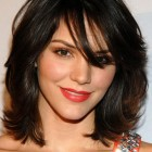 Pictures of medium length hairstyles with bangs