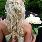 Prom hairstyles curly half up