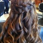 Prom hairstyles with braids and curls
