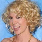 Short blonde curly hairstyles