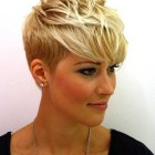 Short blonde haircut