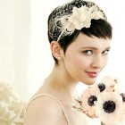 Short hair for brides