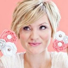 Short hair styles for a round face