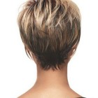 Short hairstyles from the back