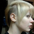 Short shaved hairstyles for women