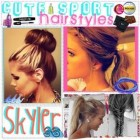 Sporty hairstyles for long hair