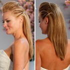 Straight wedding hair