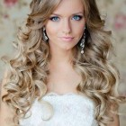 Wedding curly hair