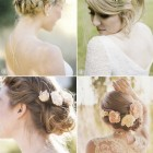 Wedding flower hair